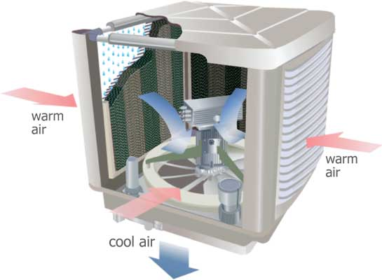 Evaporative Cooler How it works